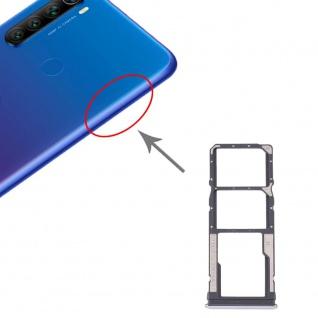 Dual Sim / Micro SD Karten Halter Xiaomi Redmi Note 8T/Note 8 Silber Ersatzteil