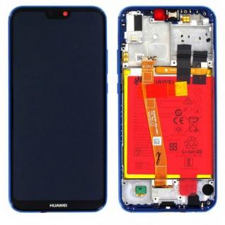 Huawei Display LCD Rahmen für P20 Lite Service Pack 02351VUV Blau Batterie Neu