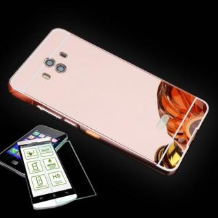 Alu Bumper 2 teilig Pink + 0, 3 H9 Panzerglas für Huawei Mate 10 Tasche Hülle Neu