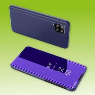 Für Samsung Galaxy A42 5G View Smart Cover Hülle Lila Handy Tasche Etuis Case