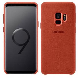 Samsung Alcantara Cover EF-XG960AREGWW für Galaxy S9 G960F Tasche Hülle Rot Neu