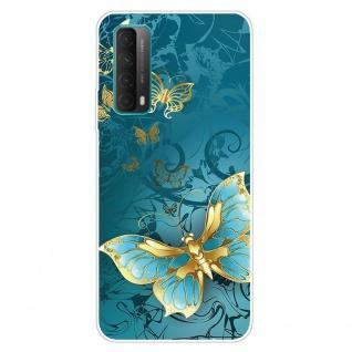 Für Huawei P Smart 2021 Silikon TPU Gold Butterfly Handy Hülle