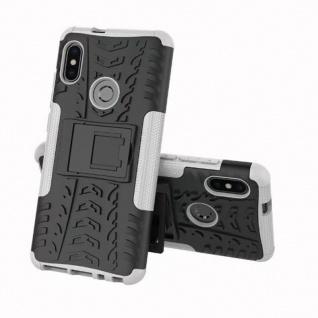 Für Xiaomi Redmi Note 5 Hybrid Case 2teilig Outdoor Weiß Tasche Hülle Cover Etui