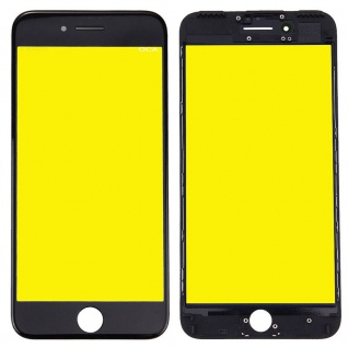 Display Glas für Apple iPhone 7 4.7 LCD Displayglas + Rahmen + OCA Kleber Black