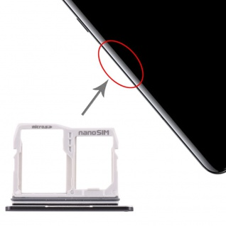 Sim Karten / Micro SD Halter für LG V50 ThinQ 5G Card Tray Schwarz Ersatzteil