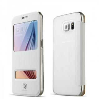 Original Baseus View Tasche Weiss für Samsung Galaxy S6 G920 G920F Etui Hülle