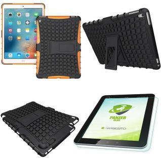 Hybrid Outdoor Schutzhülle Orange für iPad Pro 9.7 Tasche + 0.4 H9 Hartglas