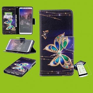 Für Samsung Galaxy S10e G970F Kunstleder Tasche Wallet Motiv 32 + H9 Glas Etuis