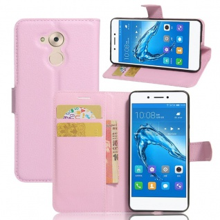 Tasche Wallet Premium Rosa für Huawei Honor 6C Hülle Case Cover Etui Schutz Neu