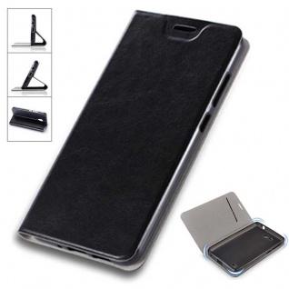 Flip / Smart Cover Schwarz für Sony Xperia L2 Schutzhülle Etui Tasche Hülle Case