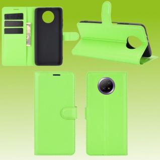 Für Xiaomi Redmi Note 9T 5G Handy Tasche Grün Etuis Kunst-Leder Cover Hülle Case