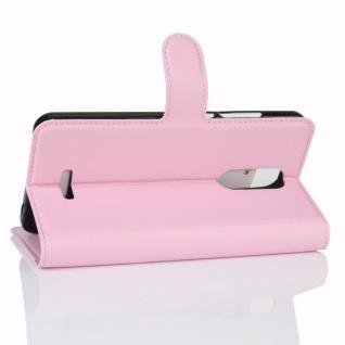 Tasche Wallet Premium Rosa für Wiko Upulse Lite Hülle Case Cover Etui Schutz Neu - Vorschau 4