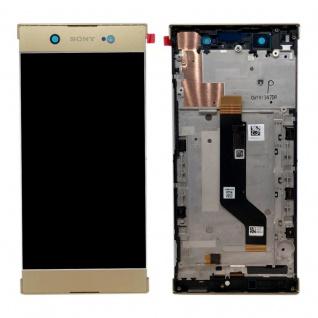 Sony Display LCD Komplett mit Rahmen für Xperia XA1 Ultra G3212 Gold Ersatz Neu