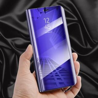 Clear View Spiegel Smart Cover Lila für Huawei P20 Tasche Wake UP Hülle Case Neu