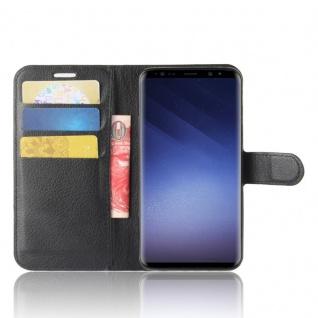 Tasche Wallet Premium Schwarz für Samsung Galaxy S9 G960F Hülle Case Cover Etui - Vorschau 3