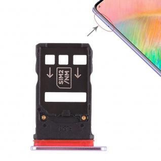 Für Huawei Mate 20 X Karten Halter Sim Tray Schlitten Holder Silber Ersatzteil