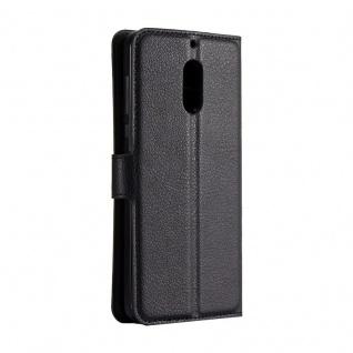 Tasche Wallet Premium Schwarz für Nokia 6 Schutz Hülle Case Cover Etui Zubehör - Vorschau 3