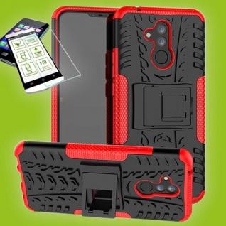 Für Huawei Mate 20 Lite Hybrid Tasche Outdoor 2teilig Rot Hülle + 0, 26 H9 Glas