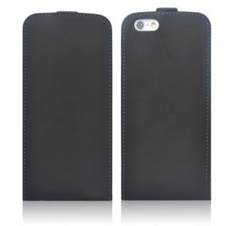 Fliptasche Deluxe Schwarz für Apple iPhone 6 Plus 5.5 Tasche Hülle Zubehör Kappe - Vorschau 3