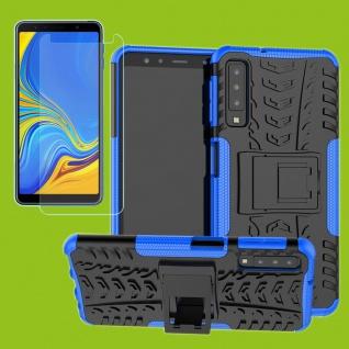 Für Samsung Galaxy A9 A920F Hybrid Tasche Outdoor 2teilig Blau + H9 Glas Cover