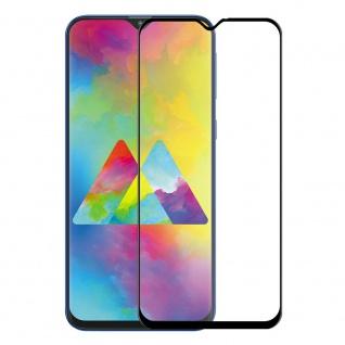 Für Samsung Galaxy M20 2x 9D Display 0, 3 H9 Hart Glas Schwarz Folie Panzer Neu