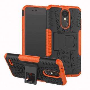 Für LG K9 2018 Hybrid Case 2teilig Outdoor Orange Etui Tasche Hülle Cover Schutz