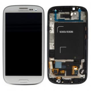 Display LCD Komplett Einheit GH97-15472B Weiß für Samsung Galaxy S3 Neo i9301