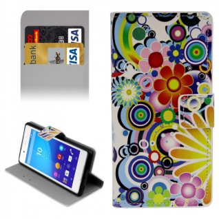 Schutzhülle Muster 1 für Sony Xperia Z3 Plus E6553 Bookcover Tasche Hülle Case