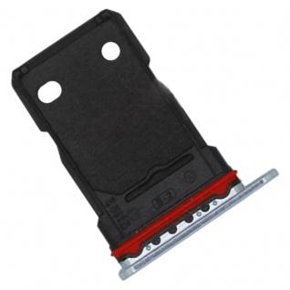 Für OnePlus 8T Dual Sim Karten Halter Adapter Silber Ersatzteil Reparatur