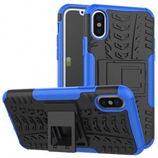 New Hybrid Case 2teilig Outdoor Blau für Apple iPhone XS MAX 6.5 Tasche Hülle