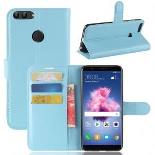 Tasche Wallet Premium Blau für Huawei Enjoy 7S / P Smart Hülle Case Cover Schutz