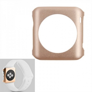 Premium Snap On Alu Backcase Gold für Apple Watch 42 mm Schutzhülle Backcover