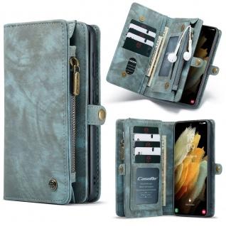 Handy Tasche für Samsung Galaxy S21 CaseMe Geldbeutel + Etui Hülle Grün