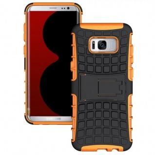 Hybrid Case 2teilig Outdoor Orange Tasche Hülle für Samsung Galaxy S8 Plus G955F