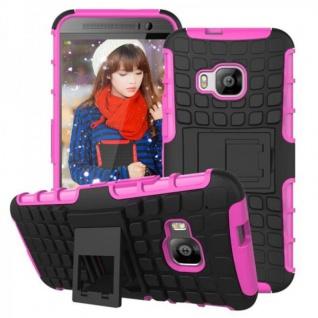 Hybrid Case 2teilig Robot Rosa/Pink Cover Kappe Zubehör für HTC One 3 M9 2015 - Vorschau