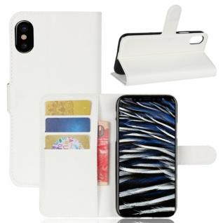 Schutzhülle Weiß für Apple iPhone X 5.8 Zoll Bookcover Tasche Case Cover Top Neu
