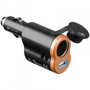 Original Goobay Adapter 12-24V auf 1x USB + 12-24V Buchse für alle Smartphones