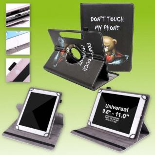 Für Huawei MatePad T10 / T10s 360 Grad Motiv 7 Tablet Tasche Kunst Leder Etuis