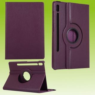 Für Samsung Galaxy Tab S7 Plus / S7 FE Tablet Tasche Hülle Case Etuis Schutz Lila Cover