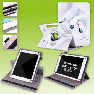 Für Lenovo Tab M10 10.1 360 Grad Rotation Motiv 2 Tablet Tasche Kunst Leder Etui