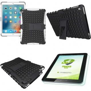 Hybrid Outdoor Schutzhülle Weiß für iPad Pro 9.7 Tasche + 0.4 H9 Hartglas Case
