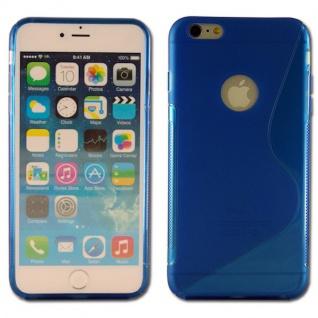 Silikon Case S-Line Bull Eye Blau für Apple iPhone 6 Plus 5.5 Hülle Cover Neu