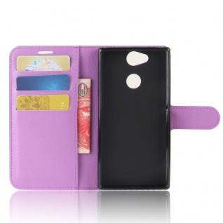 Tasche Wallet Premium Lila für Sony Xperia XA2 Hülle Case Cover Schutz Etui Neu - Vorschau 4