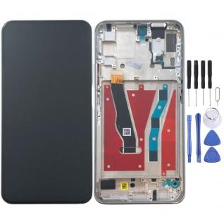 Für Huawei Honor 9X / 9X Pro Display Full LCD Touch mit Rahmen Ersatz Silber Neu