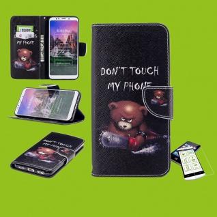 Für Samsung Galaxy A50 6.4 Kunstleder Tasche Motiv 30 + H9 Hart Glas Hülle Neu