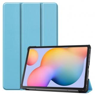 3folt Wake UP Smart Cover Blau Tasche Etuis Hülle für Samsung Galaxy Tab S6 Lite