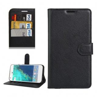 Bookcover Tasche Wallet Design für Google Pixel 5.0 Schutzhülle Hülle Etui Schwarz