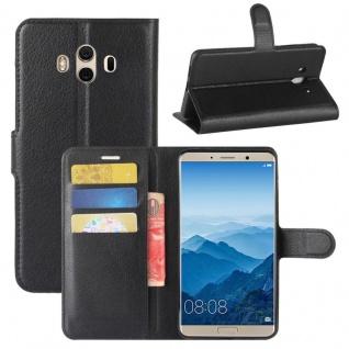 Tasche Wallet Premium Schwarz für Huawei Mate 10 Hülle Case Cover Etui Schutz