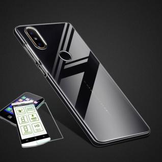 Für Wiko Y80 Silikoncase TPU Transparent + 0, 26 H9 Glas Tasche Etuis Cover Neu