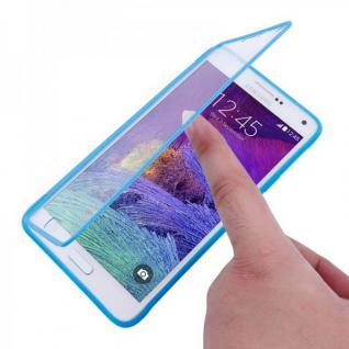 Design Cover mit Frontabdeckung Blau für Samsung Galaxy Note 4 N910 N910F Hülle